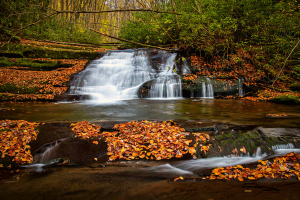 Meadow Branch Waterfall No. 1 - Smoky Mountains fine-art photography prints