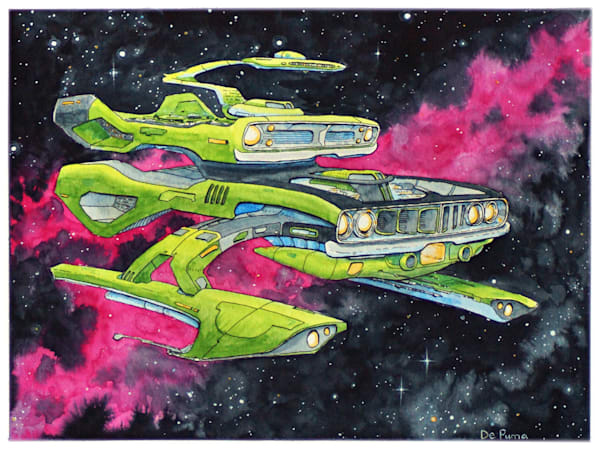 Barracuda (Watercolor) Art | Julian De Puma Art LLC