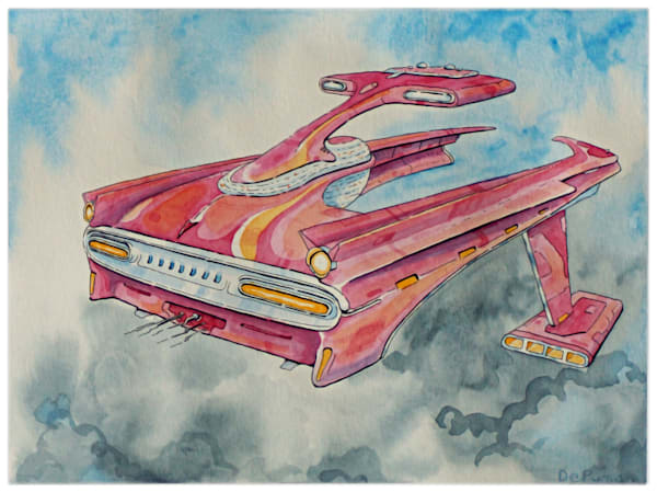 Bonneville (Watercolor) Art | Julian De Puma Art LLC