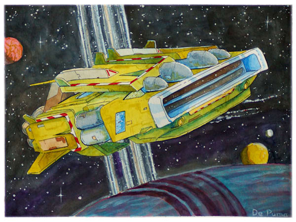 Charger (Watercolor) Art | Julian De Puma Art LLC