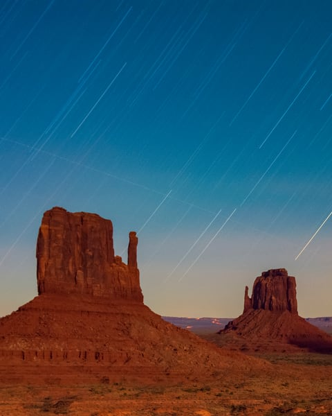 Star Trails Over Monument Photography Art | Call of the Mountains Photography