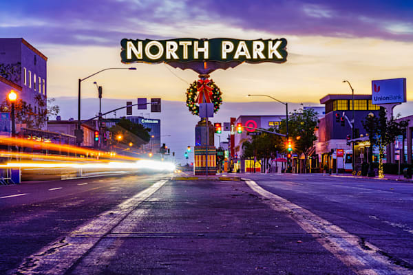 North Park, San Diego Sign Sunrise Fine Art Print by McClean Photography
