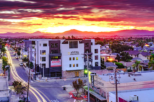 North Park San Diego Rooftop Sunrise Fine Art Print by McClean Photography