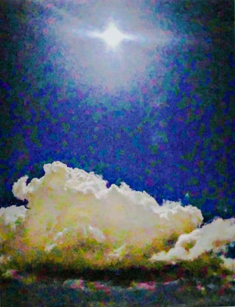 'lunar Blue' Art | Cera Arts