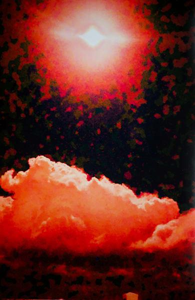 'lunar Red' Art | Cera Arts