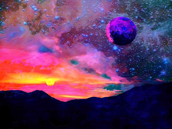 Exoplanet Moon Art | Don White-Art Dreamer