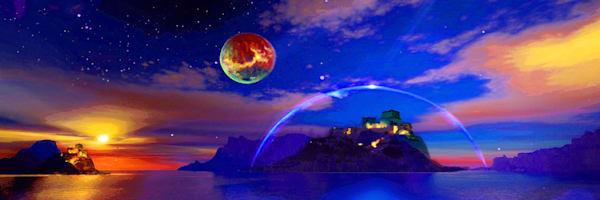 Priv Planet 54x18 Art | Don White-Art Dreamer