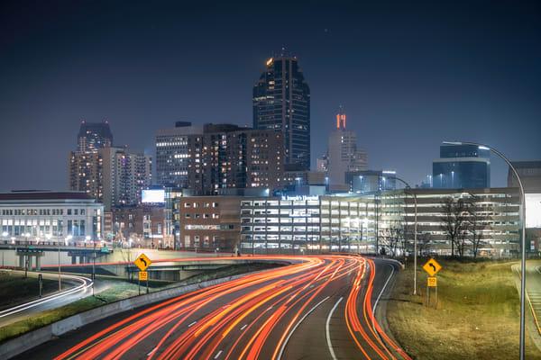 Saint Paul Skyline And Interstate 94 Photography Art   William Drew Photography