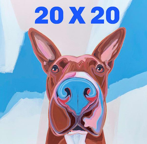 Dog A Day   Rainbow   20 X 20 | Lesli DeVito