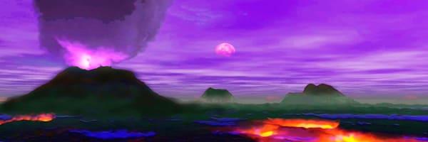 Volcanoplanet 54x18 Art | Don White-Art Dreamer