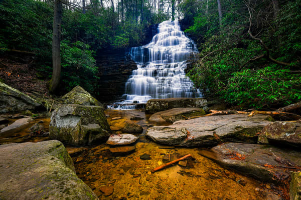 Benton Falls on Rock Creek - Smoky Mountains waterfalls fine-art photography prints