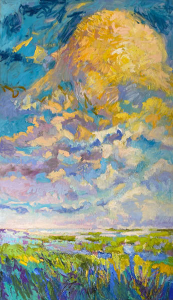 Tall Clouds Original Oil Painting by Dorothy Fagan