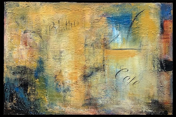 art, fine art, oil, acrylic, abstract, colorful, gold, yellow, blue, pandemic