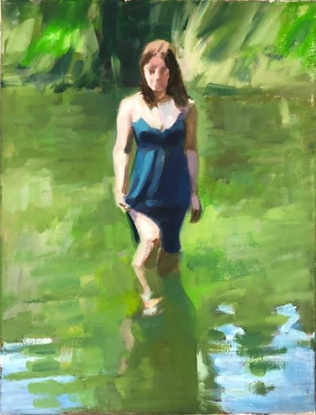 Figure In Water Art | Adam Benet Shaw Studios