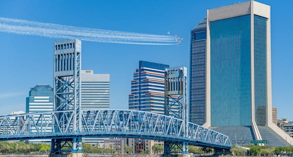 Blue Angels Cityscape With Corporate Signage Removed 136x73 Photography Art   kramkranphoto