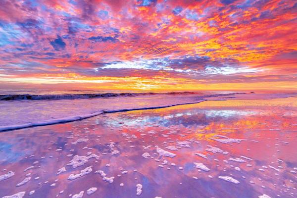 Atlantic Beach Sunrise Serenity Photography Art   kramkranphoto