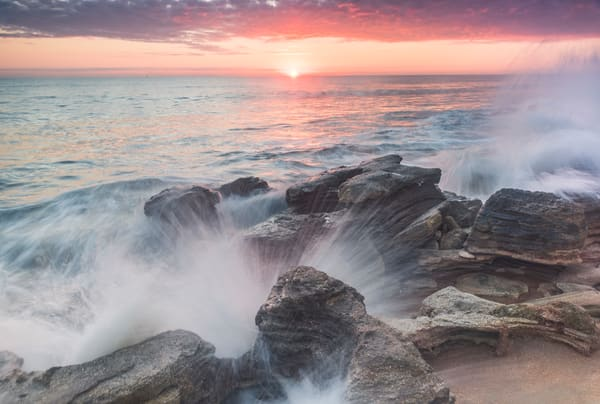 Sunrise On The Rocks Photography Art | kramkranphoto