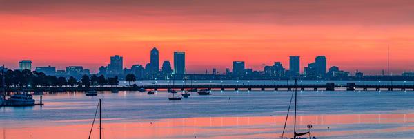 Jacksonville Panoramic Skyline Photography Art | kramkranphoto