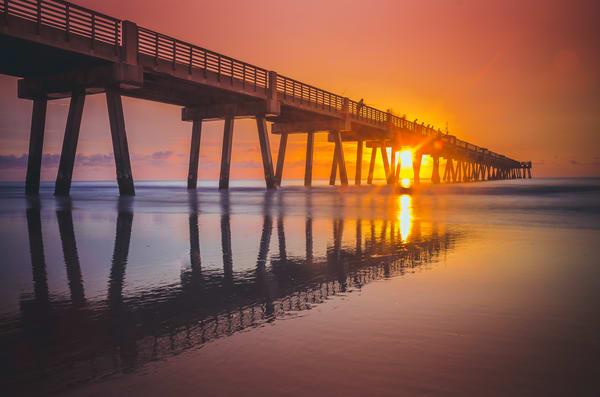 Jax Beach Reflections Photography Art | kramkranphoto