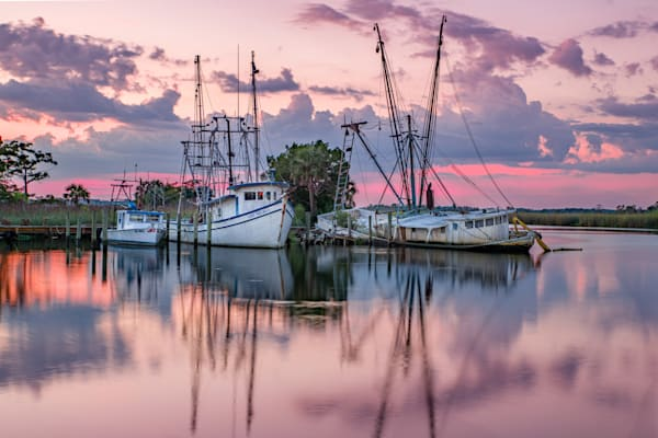 Shrimping Sunset Photography Art | kramkranphoto
