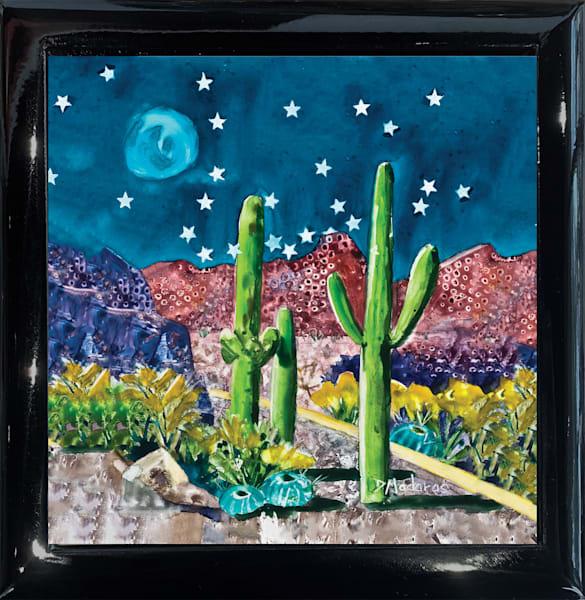 Desert Night Square Black Keepsake Box | Madaras Gallery