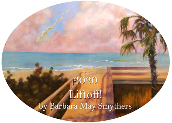 2020 Liftoff! Ornament by Barbara May Smythers