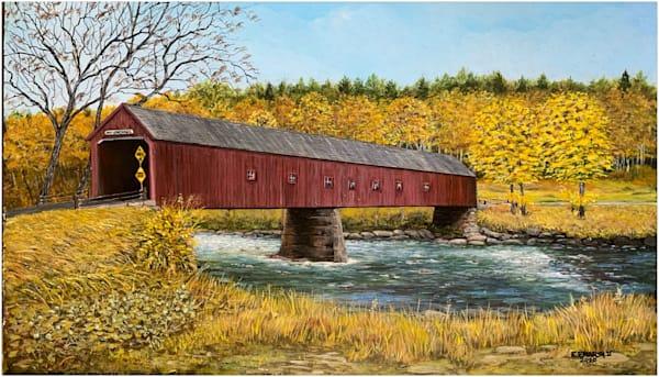 West Cornwall Covered Bridge Art | Skip Marsh Art