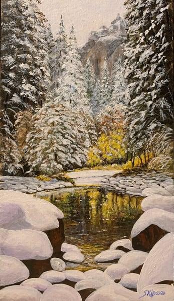 """""""Late Fall Snow"""" Art   Skip Marsh Art"""