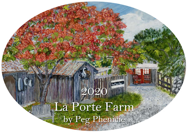 2020 La Porte Farm Ornament by Peg Phenicie