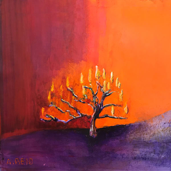 BURNING BUSH - PRINT - ANNE REID ARTIST