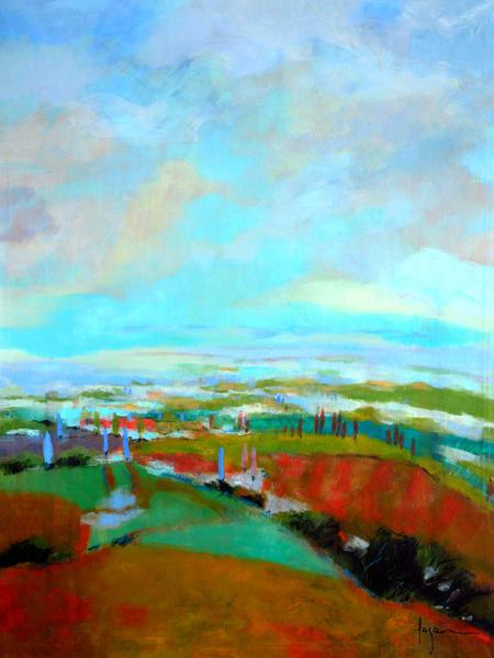 Oversize Landscape Blue Sky by Dorothy Fagan