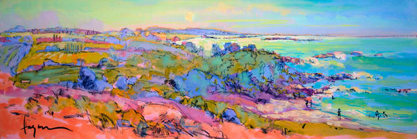 Oversize Horizontal Landscape Painting, Wall Art by Dorothy Fagan
