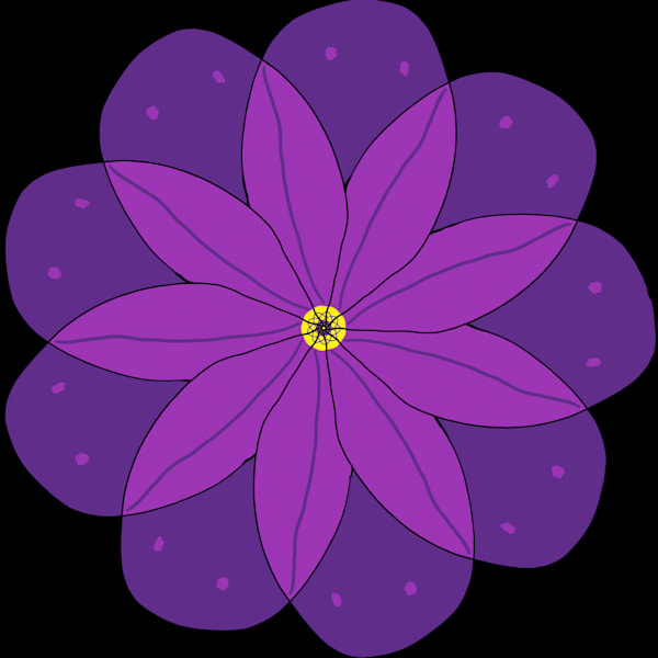 Purple Petals Art | Thriving Creatively Productions