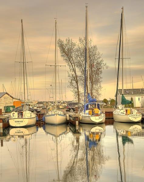 Sailboats in Golden Light