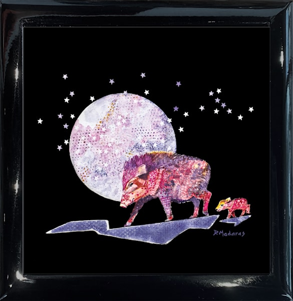 Pink Cadillac Square Black Keepsake Box | Madaras Gallery