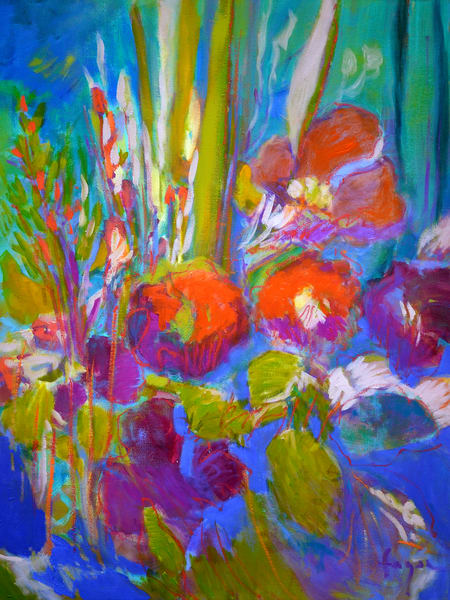 Oversize Flower Painting by Dorothy Fagan
