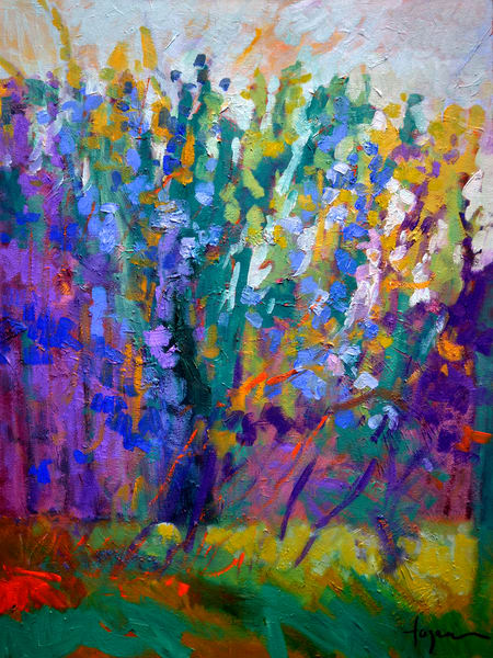 Oversize Purple Painting, Wall Art Canvas by Dorothy Fagan