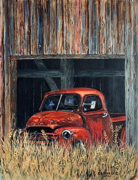Old Red Art | Skip Marsh Art