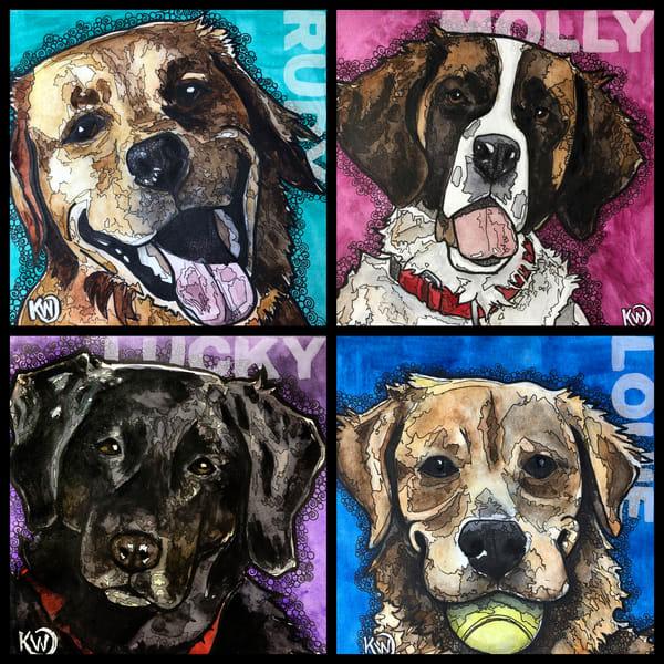 Kellys Doggos Art   Water+Ink Studios