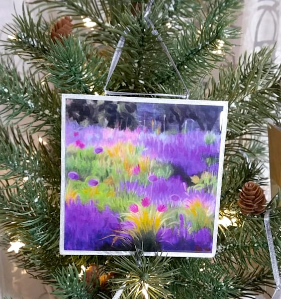 Ornament   Lavender And Allium Field Ii | smalljoysstudio