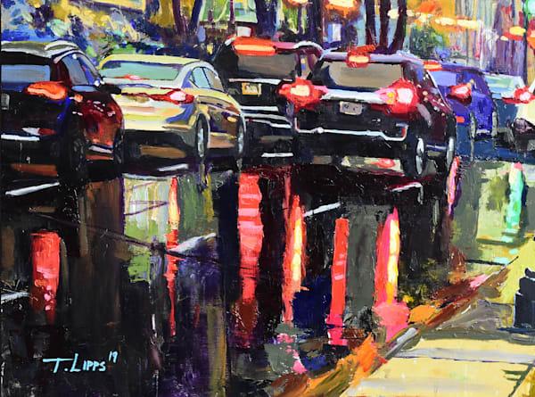 Rainy Day Traffic Art | tonylippsart