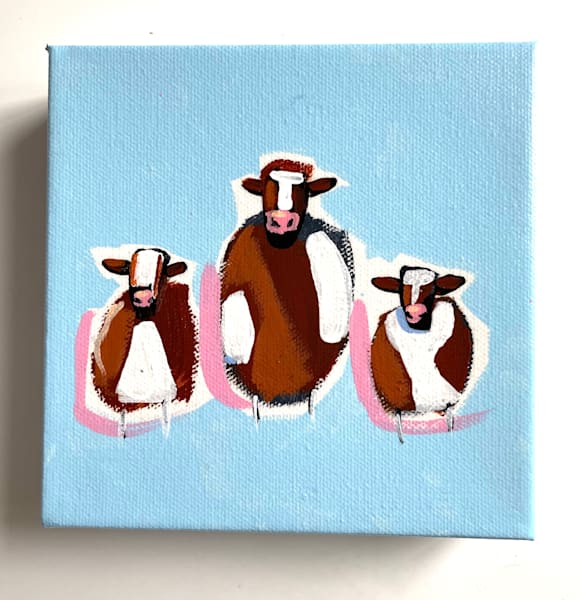 Mini Cows Sky    Sold | Lesli DeVito