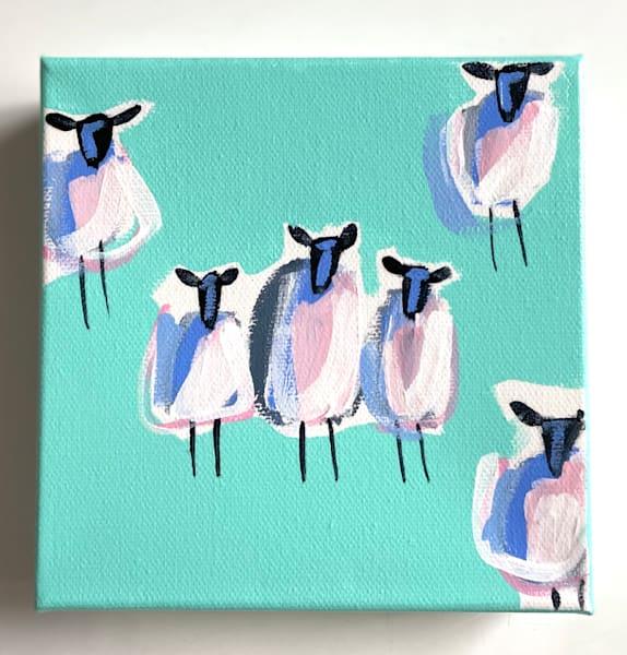 Mini Sheep Teal    Sold | Lesli DeVito