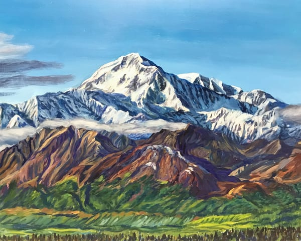 Denali Summer View Mountain Alaska Art Print by Amanda Faith
