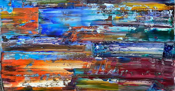 Lit Up large abstract painting