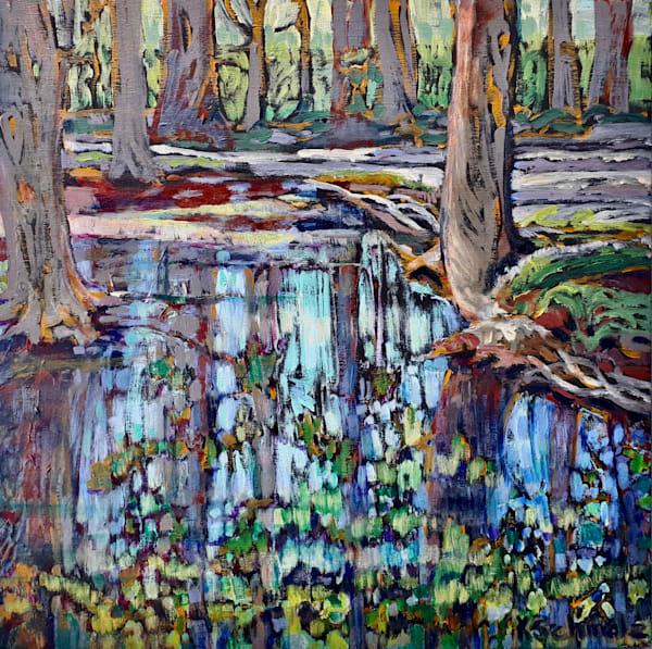 Forest Puddles Art | kathleenschmalzartist