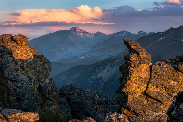 Images of RMNP | The Rock Cut at Sunset from Trail Ridge Road - Fine Art Photography prints for sale