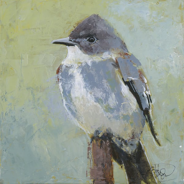 Olive Sided Flycatcher, by PNW Artist Sarah B Hansen