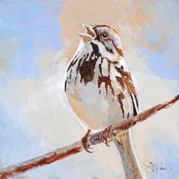 Song Sparrow, bird art by Sarah B Hansen