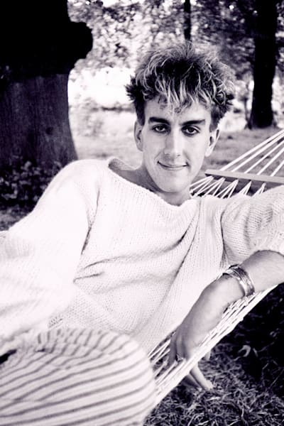 Terry Hall of Fun Boy Three in the Summertime video   (photo by Steve Rapport)